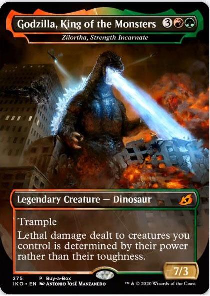 Kartu Godzilla Series tanpa counterpart
