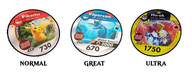 Tiga Tipe Pokemon Medallion
